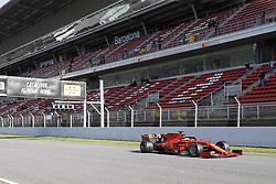 February 18, 2019 - Barcelona, Catalonia, Spain - Sebastian Vettel (Scuderia Ferrari Mission Winnow) during the winter test days at the Circuit de Catalunya in Montmelo (Catalonia), February 18, 2019. (Credit Image: © Fernado Pidal/NurPhoto via ZUMA Press)