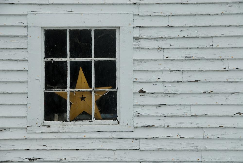 Window of Mountain View Inn, Kingfield, ME