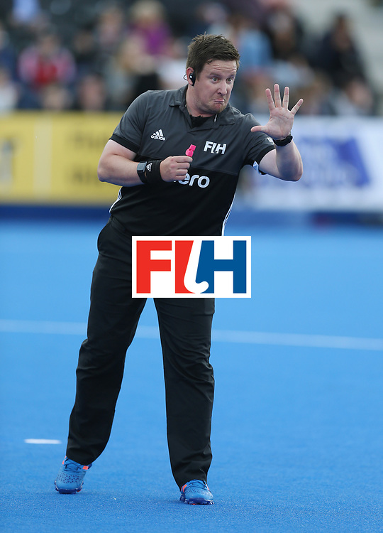 LONDON, ENGLAND - JUNE 16:  Umpire Jakub Mejzlik during the FIH Mens Hero Hockey Champions Trophy match between Korea and Germany at Queen Elizabeth Olympic Park on June 16, 2016 in London, England.  (Photo by Alex Morton/Getty Images)