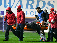 Rugby Union - 2019 / 2020 European Rugby Challenge Cup - Pool Two: Scarlets vs. Toulon<br /> <br /> is stretchered off , at Parc y Scarlets, Llanelli.<br /> <br /> COLORSPORT/WINSTON BYNORTH