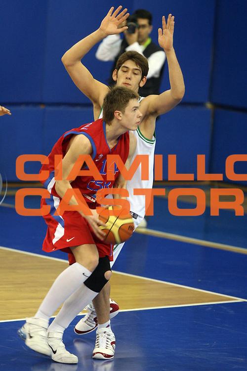 DESCRIZIONE : Atene Athens Eurolega Euroleague 2006-07 Final Four Torneo Giovanile Junior Tournament Montepaschi Siena Cska Mosca<br /> GIOCATORE : Morozov<br /> SQUADRA : Cska Mosca <br /> EVENTO : Eurolega 2006-2007 Final Four Torneo Giovanile Junior Tournament<br /> GARA : Montepaschi Siena Cska Mosca<br /> DATA : 04/05/2007 <br /> CATEGORIA : Palleggio<br /> SPORT : Pallacanestro <br /> AUTORE : Agenzia Ciamillo-Castoria/G.Ciamillo