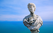 356301-1000 ~ Copyright: George H. H. Huey ~ Statue on the terrace of Villa Cimdrome [12 century]. Ravello, Italy.