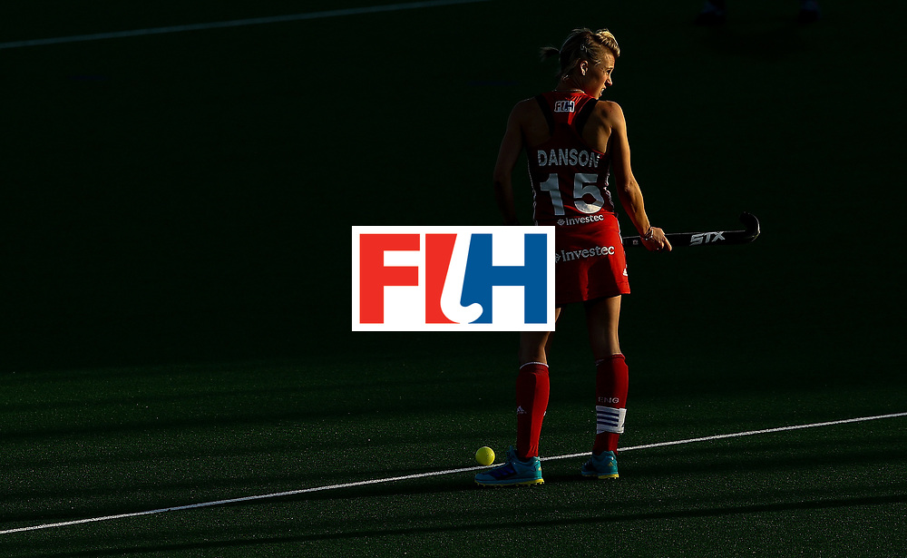 ]JOHANNESBURG, SOUTH AFRICA - JULY 10:  Alex Danson of England looks on during day 2 of the FIH Hockey World League Semi Finals Pool A match between England and Polandat Wits University on July 10, 2017 in Johannesburg, South Africa.  (Photo by Jan Kruger/Getty Images for FIH)