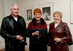 Michael Quinn, Ann Henrick and Maureen McNeela were pictured at the opening of 'Hymn to the Earth' an exhibition of photographs at the Custom House studios gallery.<br /><br />Picture Conor McKeown.