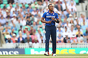 England Chris Jordan during the Royal London One Day International match between England and New Zealand at the Oval, London, United Kingdom on 12 June 2015. Photo by Phil Duncan.