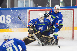 REPE Jurij and PINTARIC Matija defending during friendly game between Slovenia and Italy, on April 25, 2019 in Bled, Slovenia. Photo by Peter Podobnik / Sportida
