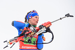 March 16, 2019 - –Stersund, Sweden - 190316 Nicole Gontier of Italy competes in the Women's 4x6 km Relay during the IBU World Championships Biathlon on March 16, 2019 in Östersund..Photo: Petter Arvidson / BILDBYRÃ…N / kod PA / 92268 (Credit Image: © Petter Arvidson/Bildbyran via ZUMA Press)