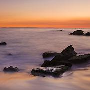 Shoreline Rocks - Woods Cove - South Laguna Beach - Dusk