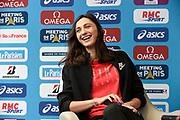 Mariya Lasitskene (ANA) during press conference of Meeting de Paris 2018, Diamond League, at Hotel Marriott, in Paris, France, on June 29, 2018 - Photo Jean-Marie Hervio / KMSP / ProSportsImages / DPPI