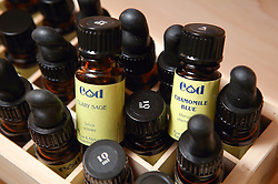 Selection of aromatherapy essences,