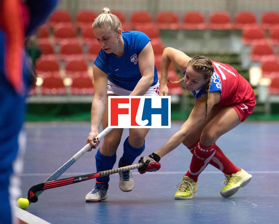 BERLIN - Indoor Hockey World Cup<br /> Czech Republic - Namibia<br /> foto: KYNDLOVA Klara and BOSHOFF Dure<br /> WORLDSPORTPICS COPYRIGHT FRANK UIJLENBROEK