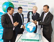 Boris Johnson <br /> Mayor of London <br /> visits Lycamobile Global HQ in Docklands, London, Great Britain <br /> 21st July 2011 <br /> <br /> Premananthan Sivasamy (Group Chief Operating Officer)<br /> <br /> Milind Kangle (Group CEO)<br /> <br /> Boris Johnson <br /> London Mayor<br /> <br /> Subaskaram Allirajah (Group Chairman)<br /> <br /> <br /> Photograph by Elliott Franks