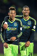Onderwerp/Subject: Eredivisie<br /> Reklame:  <br /> Club/Team/Country: <br /> Seizoen/Season: 2012/2013<br /> FOTO/PHOTO: Tobias SANA (L) of Ajax and Ricardo VAN RHIJN (R) of Ajax celebrating victory after the match ( 2 - 4 ). (Photo by PICS UNITED)<br /> <br /> Trefwoorden/Keywords: <br /> #02 #09 $94 ±1342782825903<br /> Photo- & Copyrights © PICS UNITED <br /> P.O. Box 7164 - 5605 BE  EINDHOVEN (THE NETHERLANDS) <br /> Phone +31 (0)40 296 28 00 <br /> Fax +31 (0) 40 248 47 43 <br /> http://www.pics-united.com <br /> e-mail : sales@pics-united.com (If you would like to raise any issues regarding any aspects of products / service of PICS UNITED) or <br /> e-mail : sales@pics-united.com   <br /> <br /> ATTENTIE: <br /> Publicatie ook bij aanbieding door derden is slechts toegestaan na verkregen toestemming van Pics United. <br /> VOLLEDIGE NAAMSVERMELDING IS VERPLICHT! (© PICS UNITED/Naam Fotograaf, zie veld 4 van de bestandsinfo 'credits') <br /> ATTENTION:  <br /> © Pics United. Reproduction/publication of this photo by any parties is only permitted after authorisation is sought and obtained from  PICS UNITED- THE NETHERLANDS
