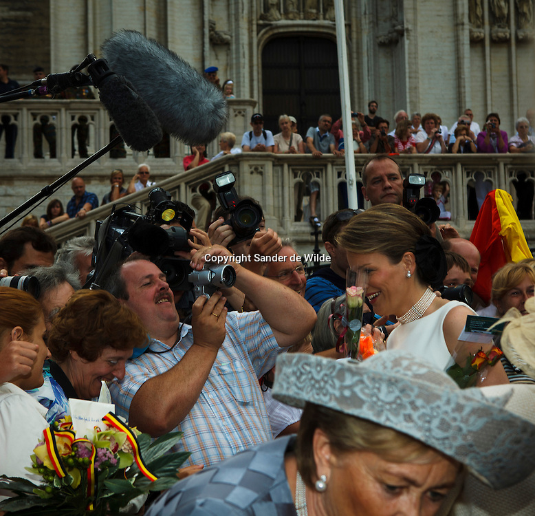 21th July 2010, Saint Goedele Cathedral, Brussels. On the 21st of July the Belgian people celebrate the official coronation of their first king Leopold I (1831).The remembrance starts in the Sint-Michiels-en-Sint-Goedele Cathedral with a Te Deum (in German, Dutch and French) accompanied by the Royal Family ; King Albert and Queen Paola, Queen Fabiola, Prins Filip en Prinses Mathilde and their guests. REPORTERS © Sander de Wilde