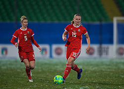 CESENA, ITALY - Tuesday, January 22, 2019: Wales' Elise Hughes during the International Friendly between Italy and Wales at the Stadio Dino Manuzzi. (Pic by David Rawcliffe/Propaganda)
