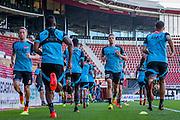 ALKMAAR - 24-08-2016, training AZ, AFAS Stadion, AZ speler Rens van Eijden, AZ speler Markus Henriksen