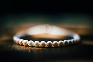 A bride's pearl necklace on her wedding day, Ko Samui, Thailand, Southeast Asia