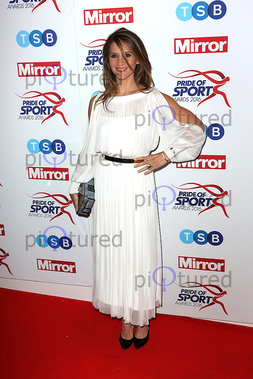 Amanda Byram, Pride of Sport Awards, Grosvenor House Hotel, London UK, 07 December 2016, Photo by Richard Goldschmidt