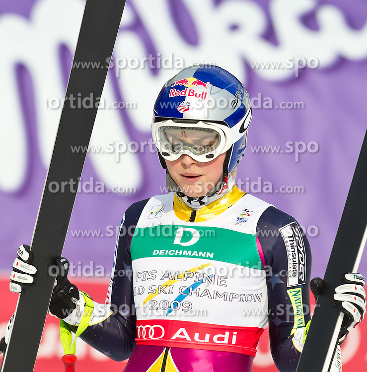 13.02.2011, Kandahar, Garmisch Partenkirchen, GER, FIS Alpin Ski WM 2011, GAP, Damen Abfahrt, im Bild zweite, silber Medaille, Lindsey Vonn (USA) // second, siver Medal Lindsey Vonn (USA) during womens Downhill, Fis Alpine Ski World Championships in Garmisch Partenkirchen, Germany on 13/2/2011, 2011, EXPA Pictures © 2011, PhotoCredit: EXPA/ J. Feichter