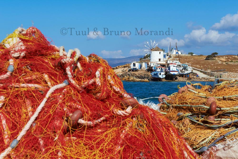 Grece, les Cyclades, ile de Koufonissi, moulin a Hora // Greece, Cyclades islands, Koufonissi island, windmill at Hora