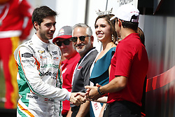 March 11, 2018 - St. Petersburg, Florida, United States of America - March 11, 2018 - St. Petersburg, Florida, USA: RenŽ Binder (32) gets introduced to the crowd for the Firestone Grand Prix of St. Petersburg at Streets of St. Petersburg in St. Petersburg, Florida. (Credit Image: © Justin R. Noe Asp Inc/ASP via ZUMA Wire)
