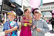 David Nowakowski, Brigid de Oliviera and Olivier Ambrozak at the opening of HMV Galwayat Edward square. Photo:Andrew Downes