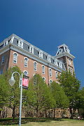 FAYETTEVILLE, AR - April 11:   Old Main building on the campus of the University of Arkansas on April 11, 2007 in Fayetteville, Arkansas.   (Photo by Wesley Hitt/Getty Images) *** Local Caption ***