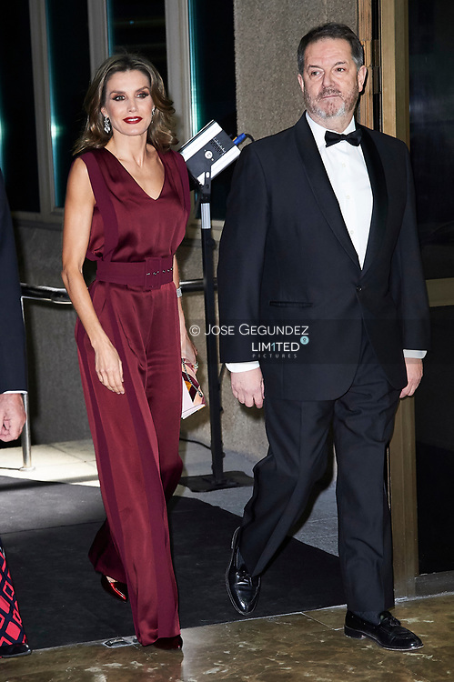 Queen Letizia of Spain attends the 'Mariano de Cavia', 'Luca de Tena' and 'Mingote' Journalism Awards Dinner at Casa de ABC on October 26, 2017 in Madrid, Spain