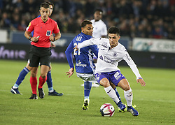 November 3, 2018 - Strasbourg, France - Garcia Alonso Manuel; Mitovic Stefan, during the French Ligue 1 football match between Strasbourg (RCSA) and Toulouse (TFC) on November 3, 2018 at the Meinau stadium in Strasbourg, eastern France. (Credit Image: © Elyxandro Cegarra/NurPhoto via ZUMA Press)