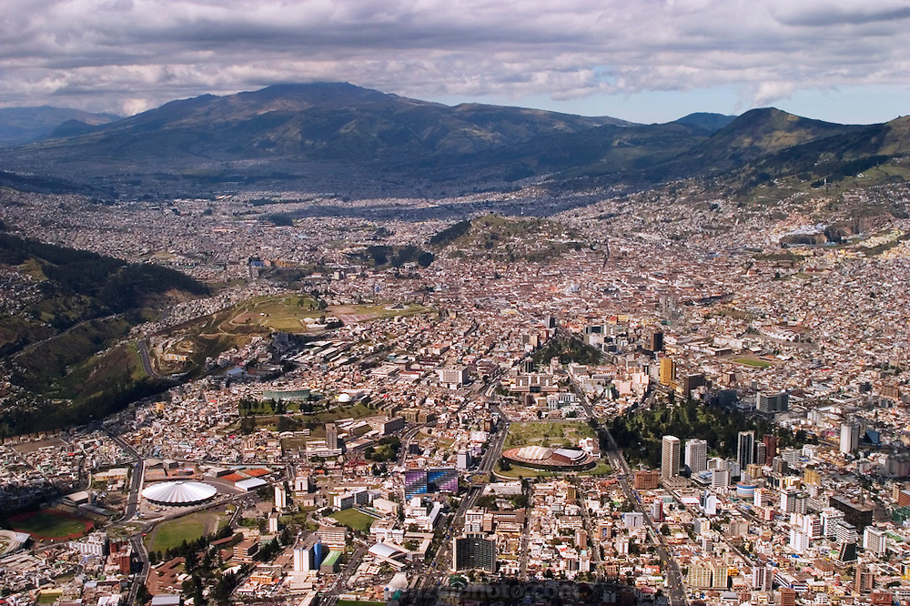 Aerial of Quito, Ecuador.