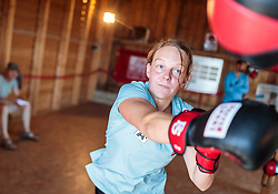 19.06.2017, Powerhof, Adnet, AUT, OeSV, Boxtraining Damen Slalom Team, im Bild Julia Grünwald (AUT) // during a Boxing Training Camp of the Austrian Ladies Slalom Team at the Powerhof in Adnet, Austria on 2017/06/19. EXPA Pictures © 2017, PhotoCredit: EXPA/ JFK