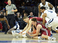 IUP's Blake Danielak (11) and Villanova's Josh Hart (3) in the first half Saturday, November 5, 2016 at the Wells Fargo Center in Philadelphia, Pennsylvania. (WILLIAM THOMAS CAIN / For The Philadelphia Inquirer)