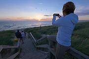 Sylt, Germany. Hörnum. Sunset at the beach.