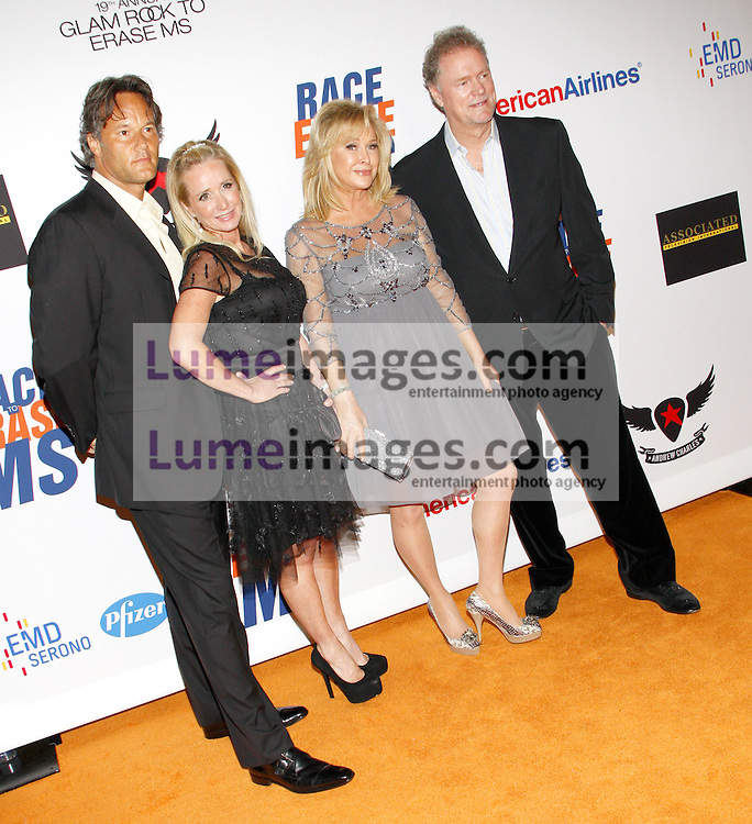 Kim Richards, Kathy Hilton and Rick Hilton at the 19th Annual Race To Erase MS held at the Hyatt Regency Century Plaza in Century City, USA on May 18, 2012.