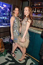 Left to right, SIENNA GUILLORY and OLIVIA GRANT at a dinner hosted by Creme de la Mer to celebrate the launch of Genaissance de la Mer The Serum Essence held at Sexy Fish, Berkeley Square, London on 21st January 2016.