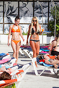 EXCLUSIVE<br /> Charlie Doherty in Bikini at Island Beach club Magaluf <br /> ©Exclusivepix Media