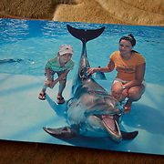 A picture of Natasha and Kirill while visiting the aquarium in Kiev before his surgery.