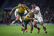 Twickenham, United Kingdom, Saturday, 24th  November 2018, RFU, Rugby, Stadium, England, Joe COKANASIGA, running on the wing, during  the Quilter Autumn International, England vs Australia, © Peter Spurrier