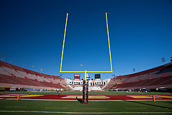 September 11, 2010; Los Angeles, CA, USA;  General view of the Los Angeles Memorial Coliseum before the game between the Southern California Trojans and the Virginia Cavaliers. USC defeated Virginia 17-14.