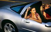 Glamorous Woman in Corvette