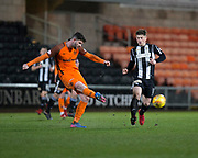 10th April 2018, Tannadice Park, Dundee, Scotland; Scottish Championship football, Dundee United versus St Mirren; Stewart Murdoch of Dundee United asn Cammy Smith of St Mirren