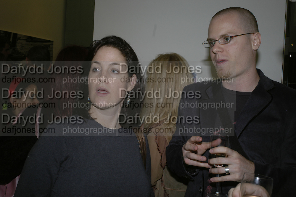 Amy Stein and Joshua Hagler, Private view of Your Gallery @the Guardian. 60 Farringdon Rd. London. EC1. 23 October 2006. -DO NOT ARCHIVE-© Copyright Photograph by Dafydd Jones 66 Stockwell Park Rd. London SW9 0DA Tel 020 7733 0108 www.dafjones.com