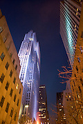 The RCA building, also known as the General Electric (GE) building, in the Rockefeller Center