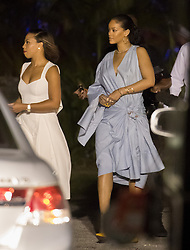 EXCLUSIVE: Rihanna seen leaving St Ann'a Fort after meeting Prince Harry at Prime Minister Freundel Stuart's Toast at an event marking 50 years of Barbados' independence on Wednesday night.<br /> 30 Nov 2016<br /> Pictured: Rihanna.<br /> Photo credit: MEGA<br /> <br /> TheMegaAgency.com<br /> +1 888 505 6342