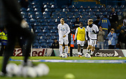 Leeds players warming up during the EFL Sky Bet Championship match between Leeds United and Sheffield Utd at Elland Road, Leeds, England on 27 October 2017. Photo by Paul Thompson.