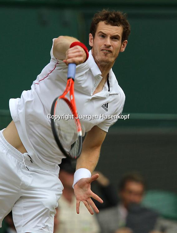 Wimbledon 2010,Sport, Tennis, ITF Grand Slam Tournament, Andy Murray (GBR)..Foto: Juergen Hasenkopf..