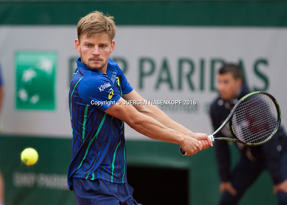 David Goffin (BEL)<br /> <br /> Tennis - French Open 2016 - Grand Slam ITF / ATP / WTA -  Roland Garros - Paris -  - France  - 2 June 2016.