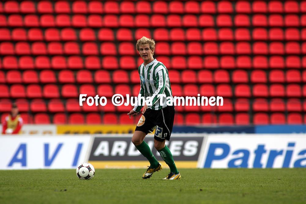 22.05.2008, Ratina, Tampere, Finland..Veikkausliiga 2008 - Finnish League 2008.Tampere United - FC KooTeePee.Marko Tyysk? - KooTeePee.©Juha Tamminen.....ARK:k