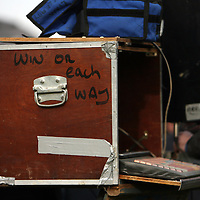 Bookies get ready for action at the Clare Hunt point to point in Bellharbour on Sunday.<br /> Photograph by Yvonne Vaughan