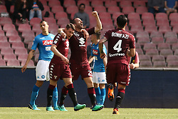 May 6, 2018 - Naples, Italy - Players of Torino FC celebrate the 2-2 goal scored by Lorenzo De Silvestri during the serie A match between SSC Napoli and Torino FC at Stadio San Paolo on May 6, 2018 in Naples, Italy. (Credit Image: © Paolo Manzo/NurPhoto via ZUMA Press)